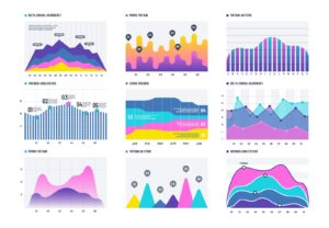 Graph and diagram, chart for data illustration